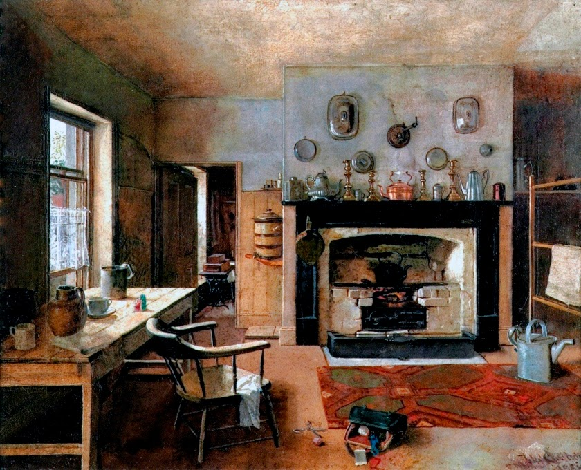 кухня, живопись, картина