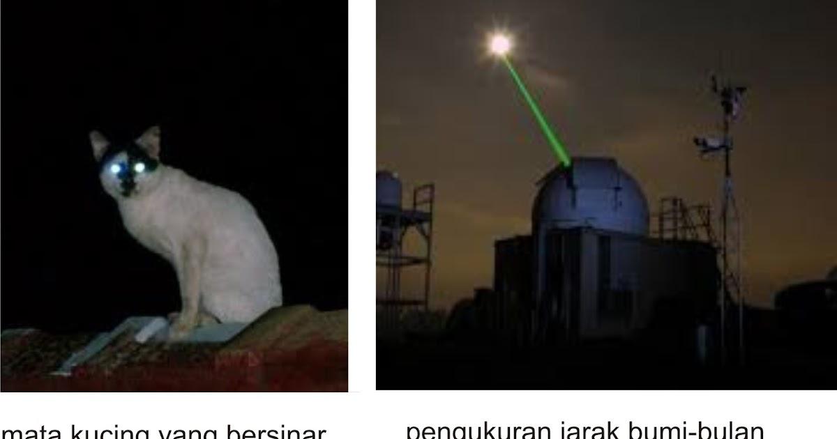 Retroreflektor Dari Bulan Sampai Mata Kucing Yang Bersinar Pakgurufisika