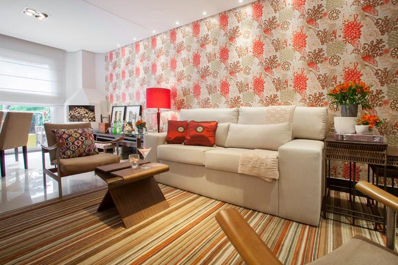 Arqui farofa arquitetura e design sala de estar com for Wallpaper sala de estar