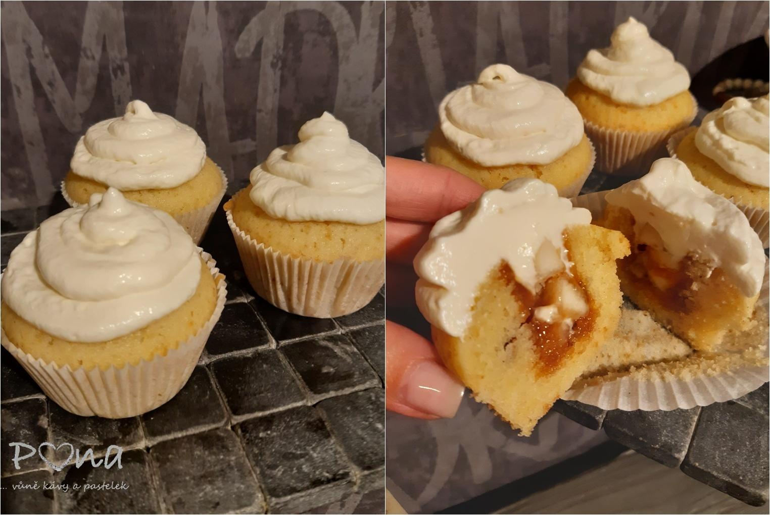cupcakes s hruškami a slaným karamelem