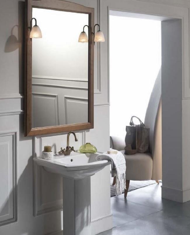 aplique luz baño clasico
