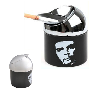 a smokeless ashtray adorned with the image of Che Guevara