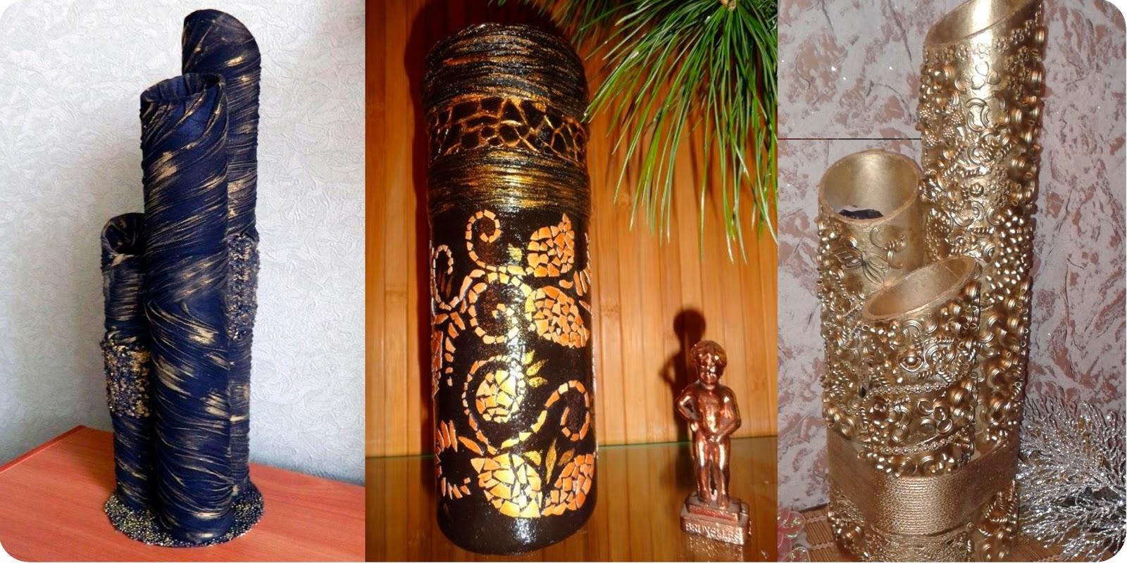 Напольные вазы своими руками и их декор