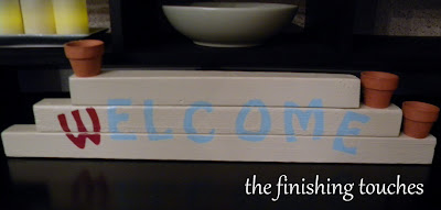 wood stacker, wood sign, welcome sign