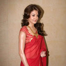 Anushka Sharma  in Red Saree Cute Photos