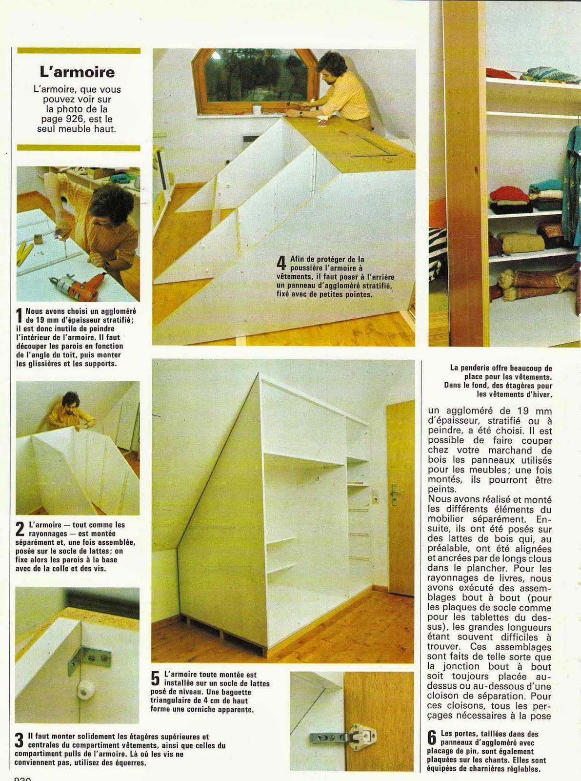 madame capucine patrons gratuits des ann es 70 comment am nager une chambre mansard e. Black Bedroom Furniture Sets. Home Design Ideas