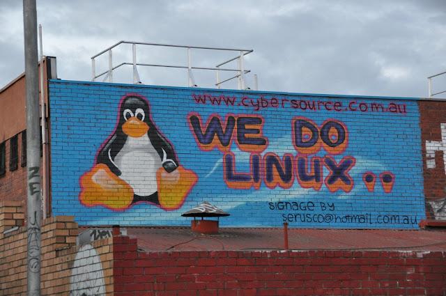 linux street art