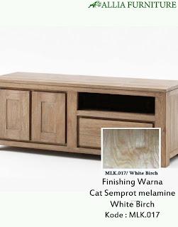 Contoh Furniture Semprot Melamine White Birch