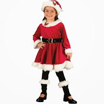 Santa Claus Costume Little Girl