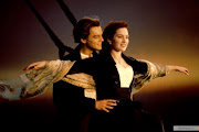 Titanic is an emotional . kate winslet middle front with james cameron titanic set