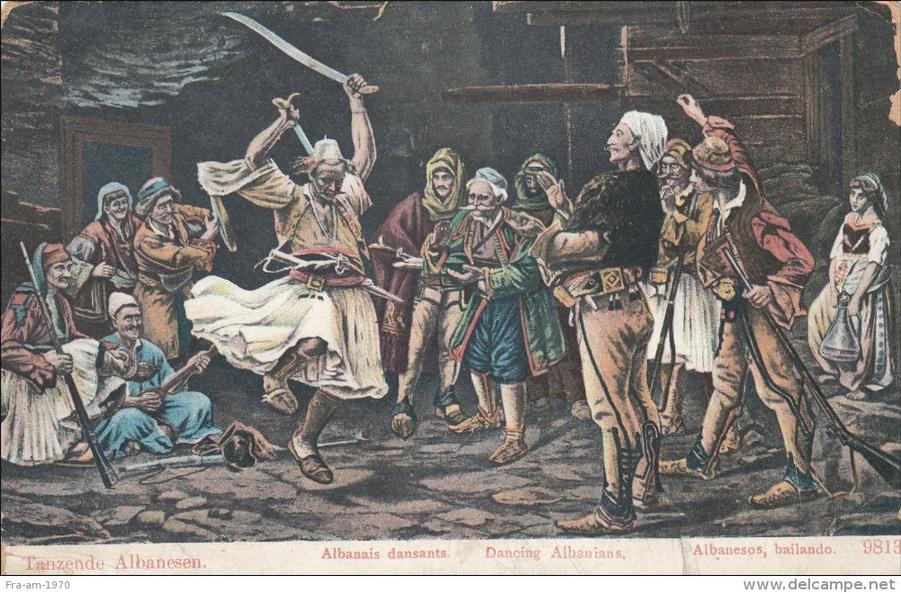 Tanzende Albanesen