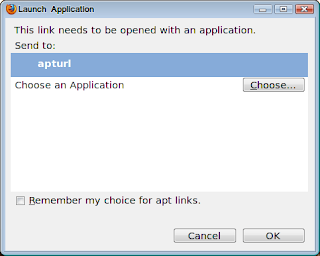 Launch Application Dialog Box