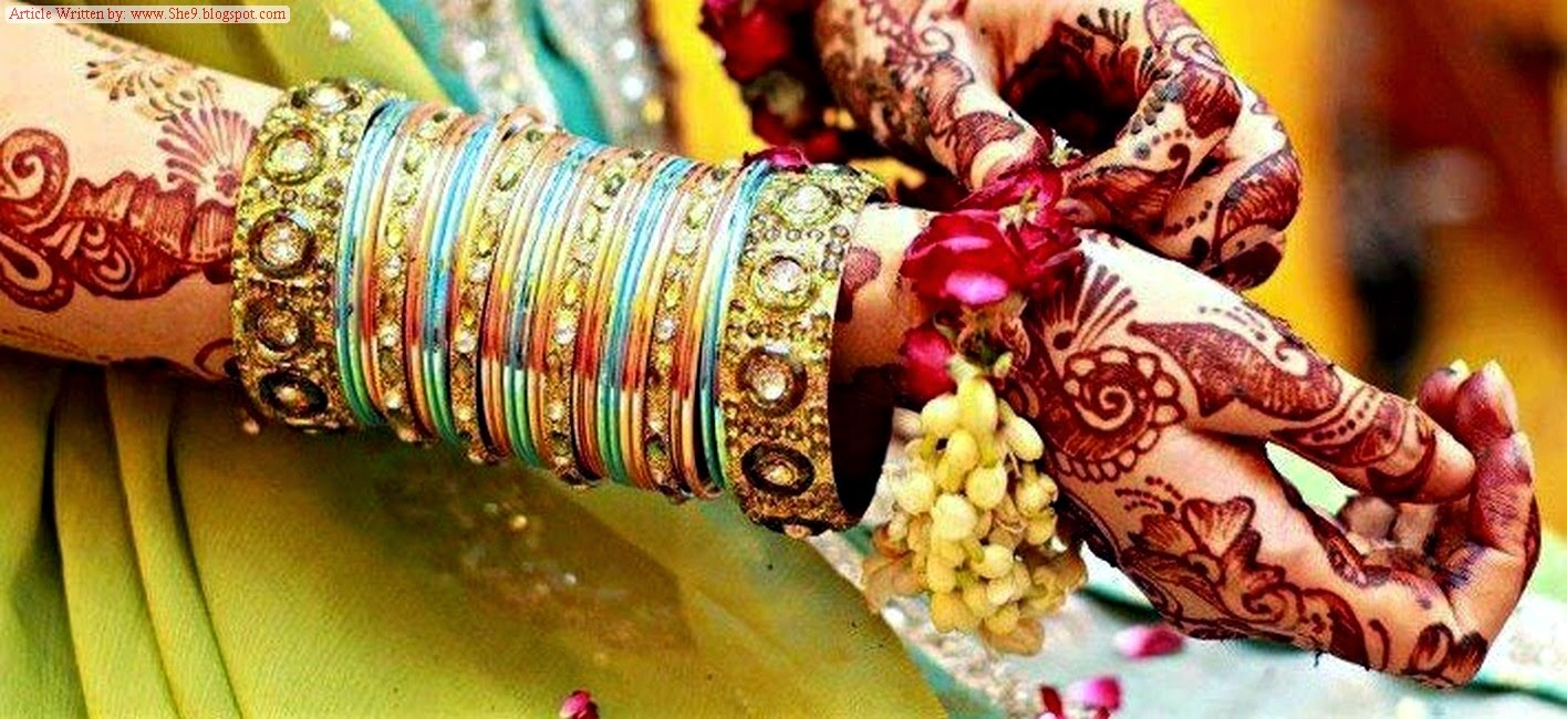 What are the Mehndi Accessories of Brides in Pakistan and India