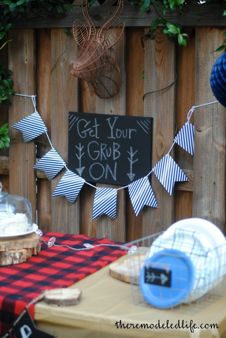 A Backyard Camp Birthday Party DIY Ideas