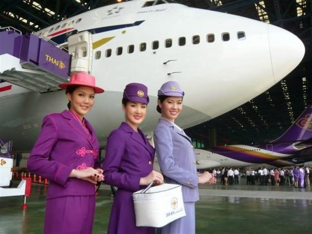 thai airways international, havayolu hostesleri, hostes kızlar