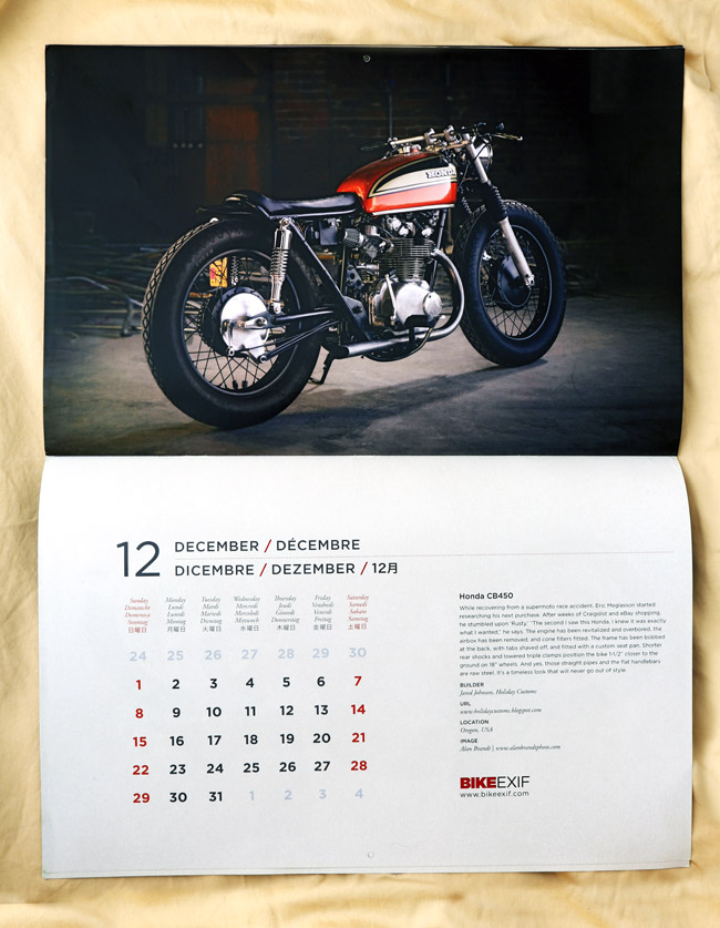 Bike EXIF 2013 Motorcycle Calendar | 2013 Motorcycle Wall Calendar - Bike EXIF | 2013 Motorcycle Wall Calendar - Bike EXIF Price - $16