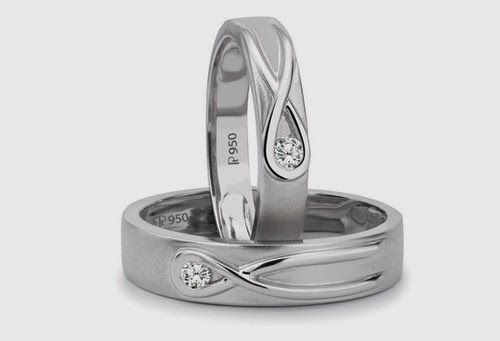 Platinum Love Bands pair of the year 2013 by Suranas Jewelove