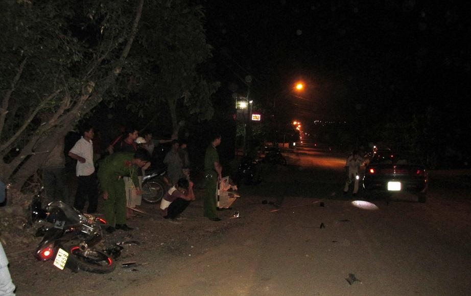 Gia Lai: Va chạm với ô tô, một người bị thương nặng