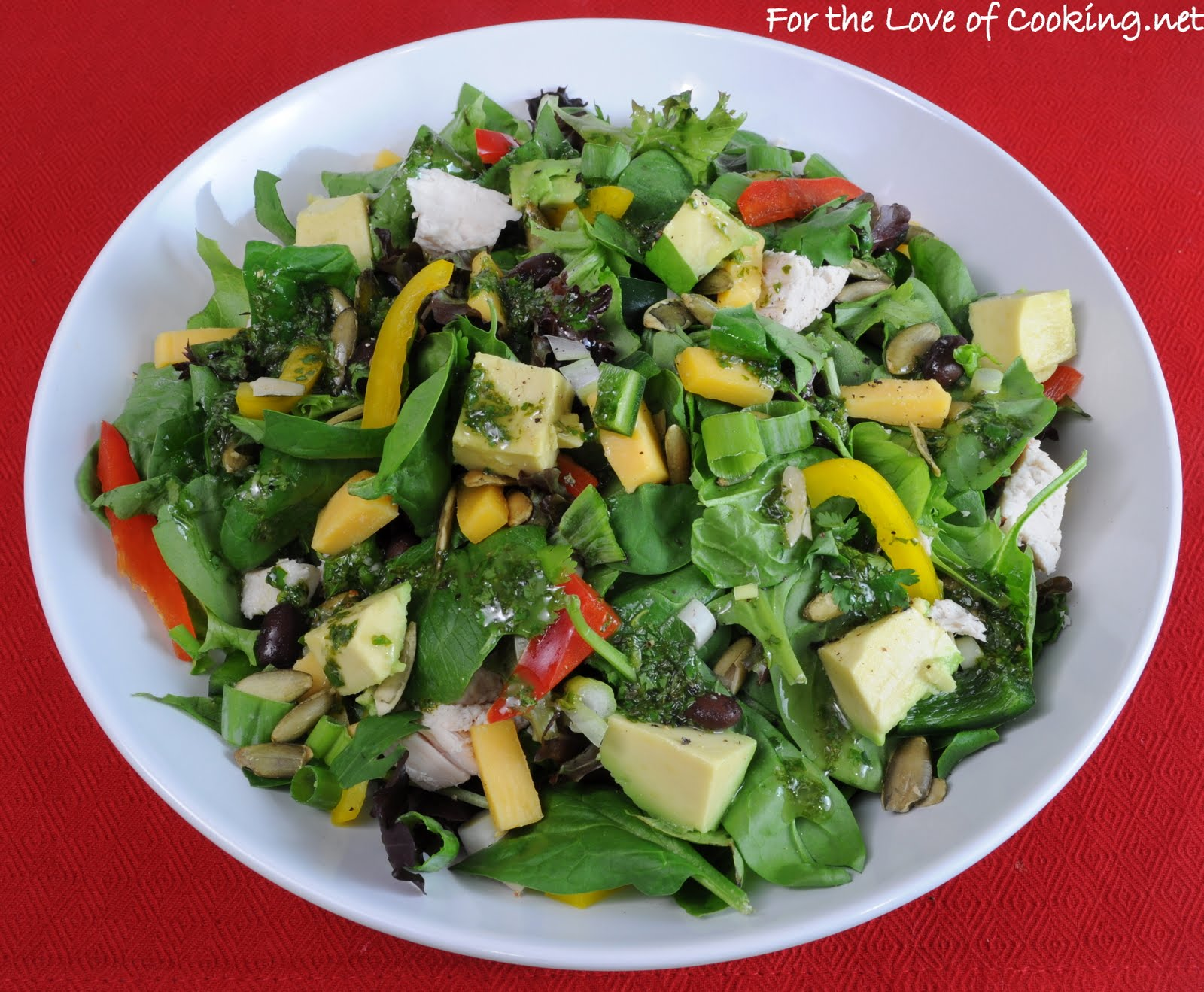 salad with lime roasted poblano corn chowder lime cilantro vinaigrette ...