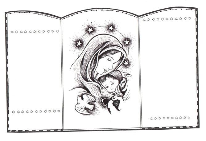 Blog para una Navidad Feliz: Crea un Tríptico de la Virgen María con ...