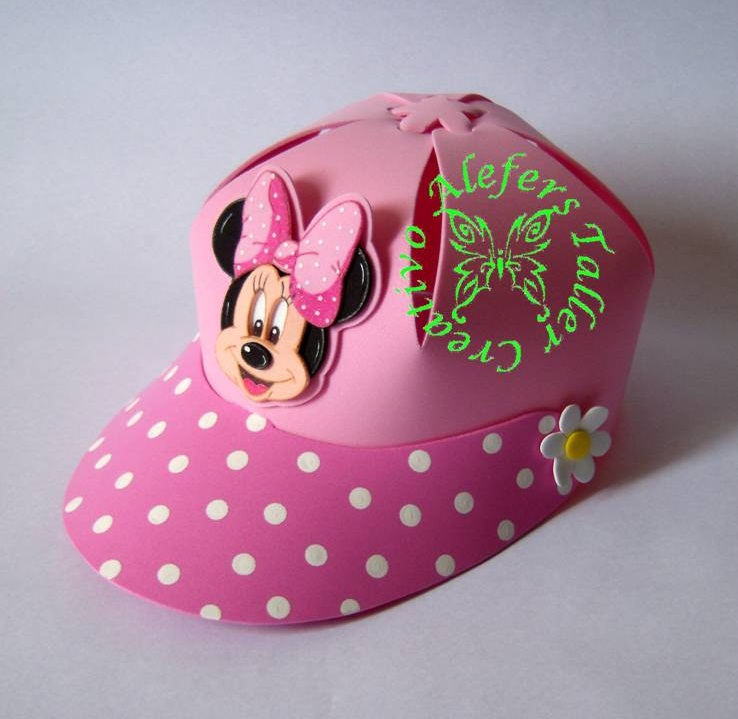 Gorras (Minnie Mouse) en foami=)