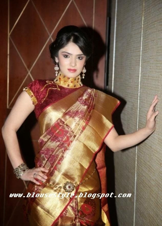 Bollywood wedding silk saree picture