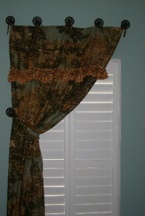 Where to hang curtain tie backs