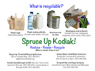 Kodiak, recycling, recycle, garbage, solid waste