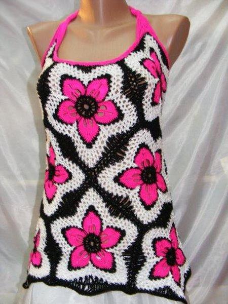 Blusa con flores de crochet | Manos de Tete
