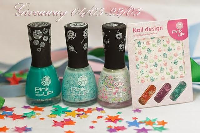 Giveaway лаков для ногтей и слайдер-дизайна Pink Up в моём блоге! 04/05-22/05 - See more at: http:/