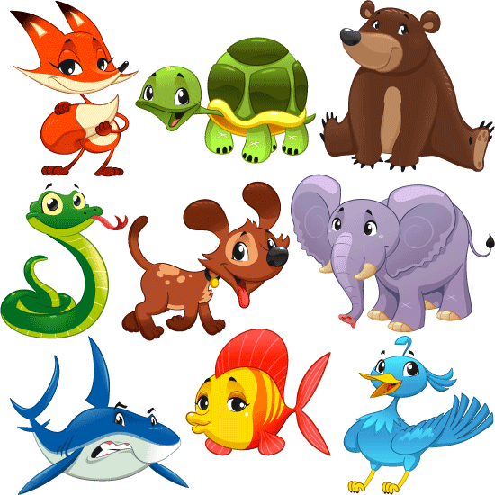 Animalitos divertidos - Vector