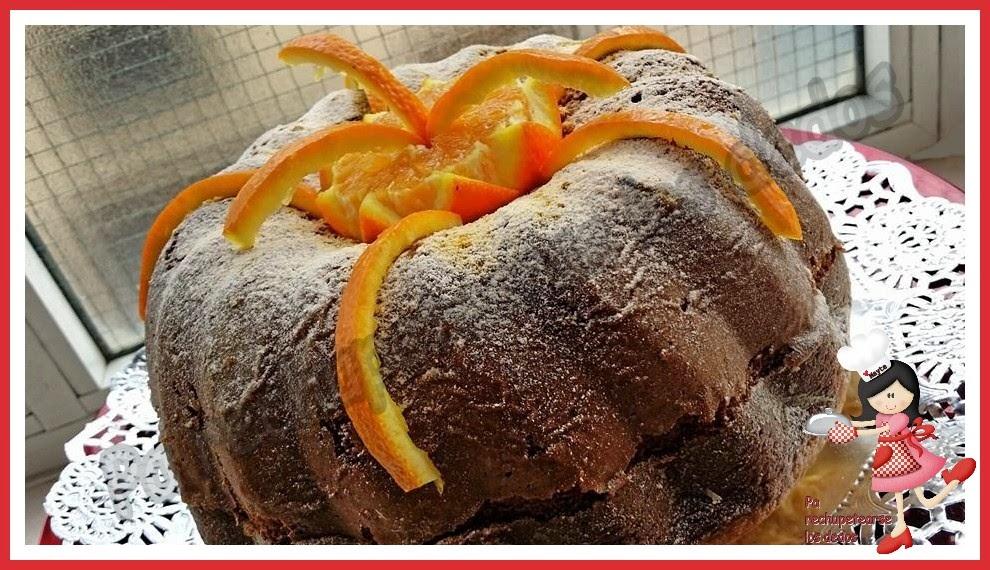 *Bizcocho de naranja esponjoso (thermomix, tradicional)