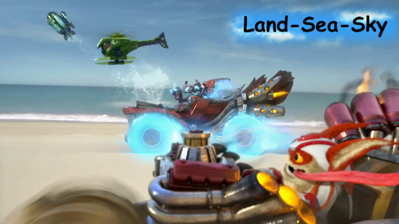 skylanders superchargers land trophy
