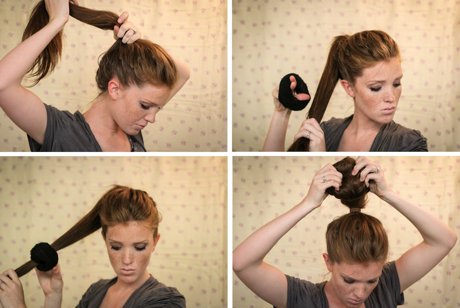 The Freckled Fox: Hair Tutorial // the Textured Sock Bun