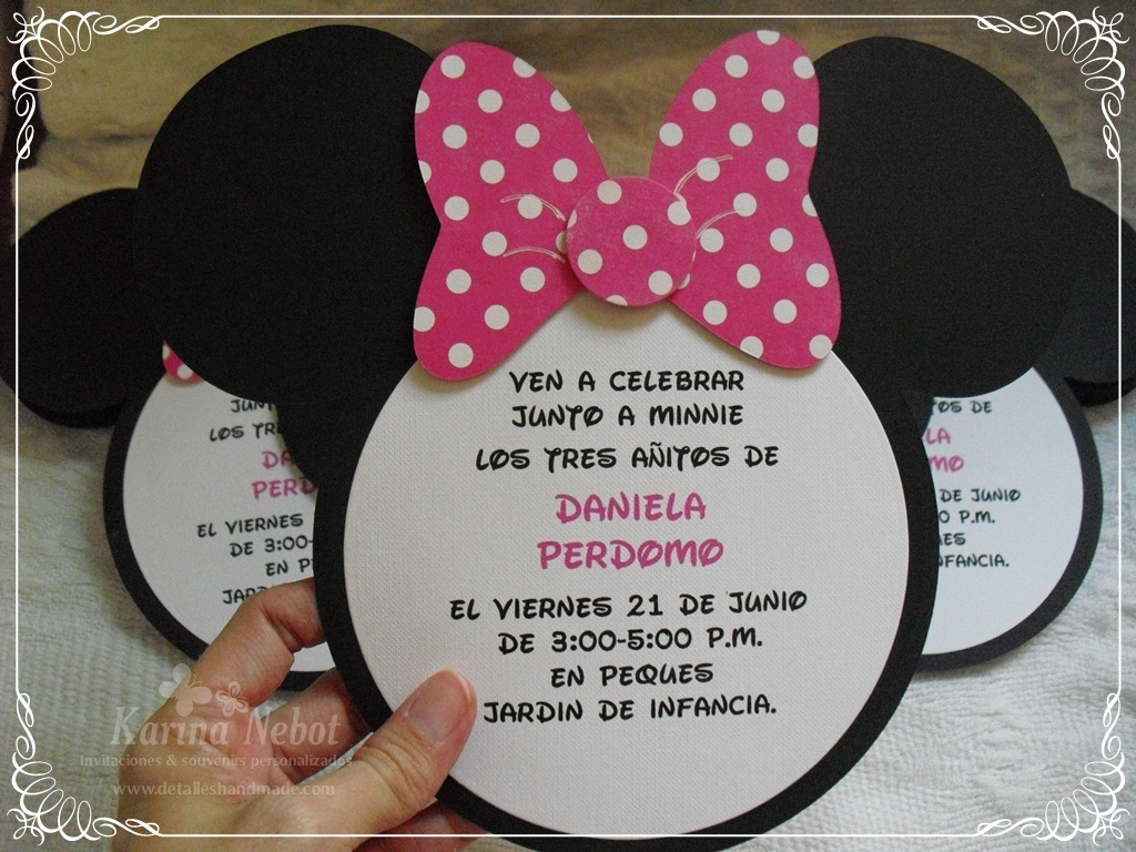 Minnie Mouse Head Invitation Template was nice invitations design