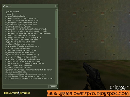Просмотров: 166. Автор: kenny133. ApocServ Module Hack - For the Counter-Strike
