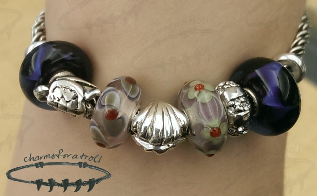 Trollbeads, Novobeads, Sea Urchin Charm Bead