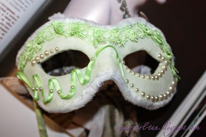 карнавальная маска на палочке