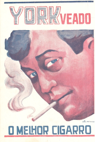 Propaganda do Cigarro York Veado em 1926. Liberdade para anunciar propagandas de cigarro.