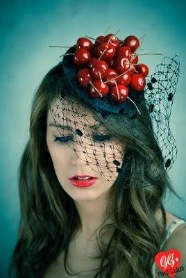rockabilly, kitsch, vintage, cherry, fascinator, hat, buy hat, millinery