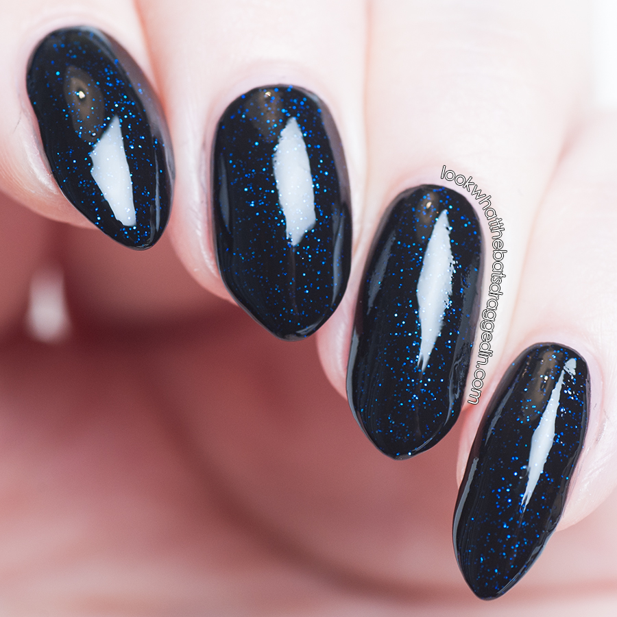 Bettie Pain Polish nail polish swatch Midnight