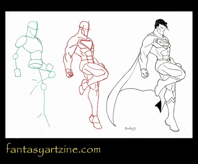Comment dessiner superman - Dessiner un super heros facile ...