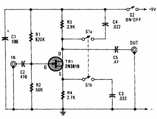 Circuito Guitarra Electrica : Circuitos para musica circuito guitarra eléctrica