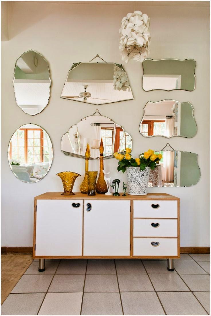Home garden 80 id es pour une jolie d coration murale - Accrocher miroir au mur ...