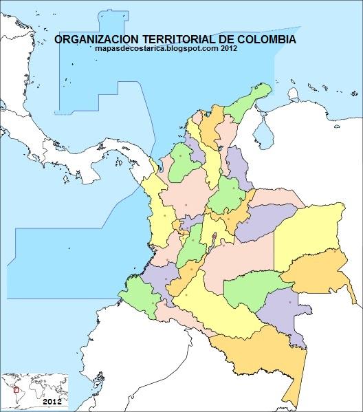 COLOMBIA , organización territorial