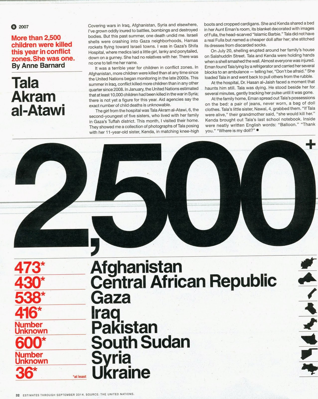 elder of ziyon news from looking at this page one would get the impression that except for south sudan more children were killed in gaza than in any other conflict this year