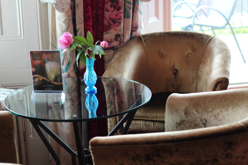 coffee coloured, velvet armchairs, Cottonwood Boutique Hotel Bournemouth