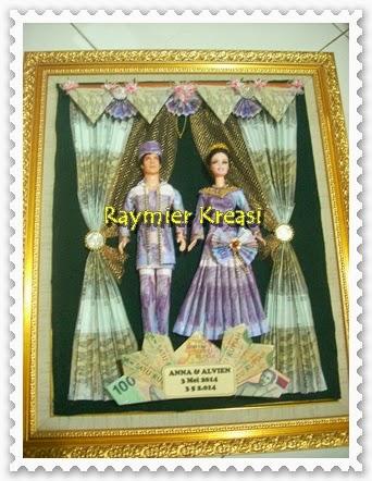 Gaun muslim bingkai 40 X 50, harga Rp. 525.000,-