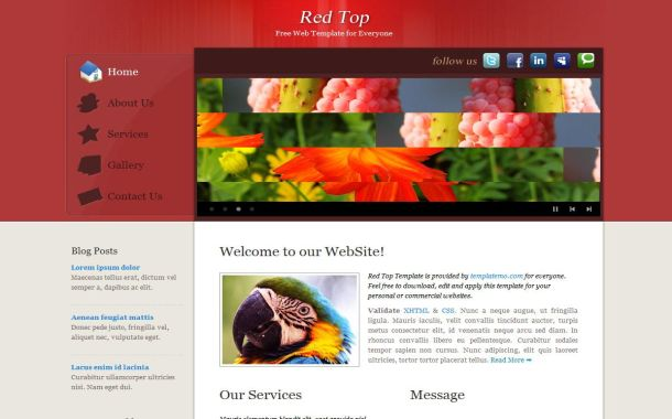 Free HTML Red Gray Business CSS Website Template
