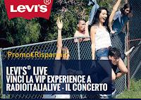 Logo Concorso Levi's Live: vinci Vip Experience